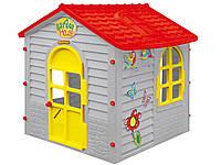 Большой садовый домик серый Mochtoys