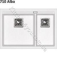 Прямоугольная гранитная мойка 650х455 мм. AquaSanita Delicia SQD 150 AW монтаж под столешцу или в столешницу