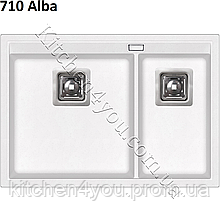 Прямокутна гранітна мийка 650х455 мм. AquaSanita Delicia SQD 150 AW монтаж під столешцу або в стільницю
