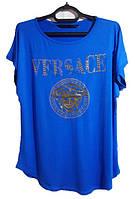 Женская футболка Versace батал
