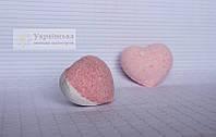 """Бомбочка для ванни """"Серце"""" полуниця з вершками"""