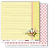 Бумага для скрапбукинга 30,5*30,5 190 гр/м Школа Правильный вектор  Scrapberry's