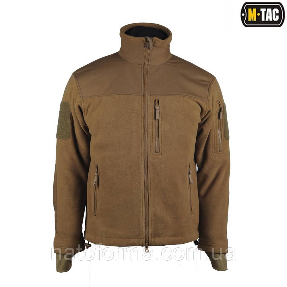Флисовая куртка Alpha Microfleece Jacket Coyote M-TAC, фото 1