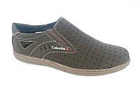 Туфли коричневый мужские на резинках Cardinal D-4