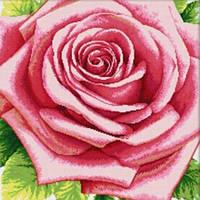 "Мозаика камнями ""Розовая роза"" 55х55см Оттенков 18"