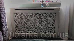 Экраны для батарей отопления из дерева,  решетки резные №32 (камыш)