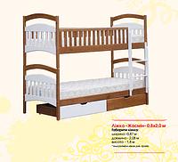 Жасмин двухъярусная деревянная кровать
