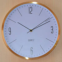 Часы настенные офисные, золото (30х30х4 см.)