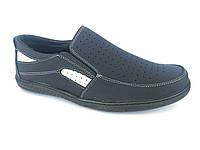 Туфли синий мужские на резинках Comford M-4