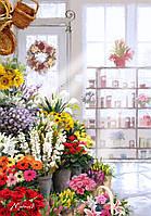 """KH 2023  """"Букеты в цветочном магазине"""" Роспись по номерам на холсте  40х50см"""