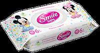 """Влажные салфетки """"Smile Baby"""" Antibacterial с клапаном, 60 шт."""