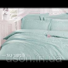 Комплект  постельного белья deco bianca евро размер жаккард su-yesili