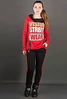 Спортивный костюм с оригинальным капюшоном Наргиз р. 48 красный-черный