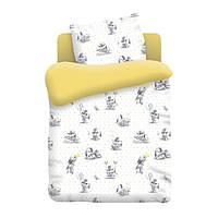Постельное белье Непоседа, в детскую кроватку, дизайн 8816/желтый Зайчата