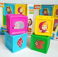Развивающие кубики-пищалочки для ванны!Маша и медведь,игрушки для купания