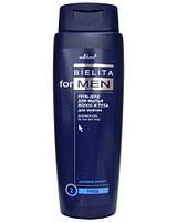 Гель-душ для волос и тела - Bielita for Men 400мл.