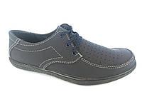 Туфли синий мужские на резинках Comford M-9