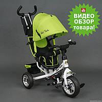 Детский трехколесный велосипед Best Trike 6588 салатовый с колесами EVA