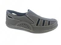 Туфли черный мужские на резинках Comford M-11
