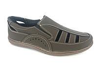 Туфли коричневый мужские на резинках Comford M-11