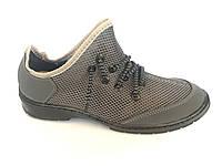 Туфли спортивный на шнурках мужские серый сетка ANKOR