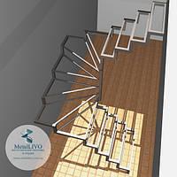 П-образная лестница каркас