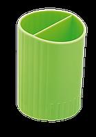 Стакан для письменных  принадлежностей СФЕРИК на два отделения, салатовый, KIDS Line (ZB.3000-15)