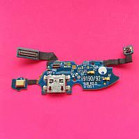 Шлейф для Samsung I9190/I9192/I9195 Galaxy S4 mini коннектора зарядки микрофона с компонентами б/у