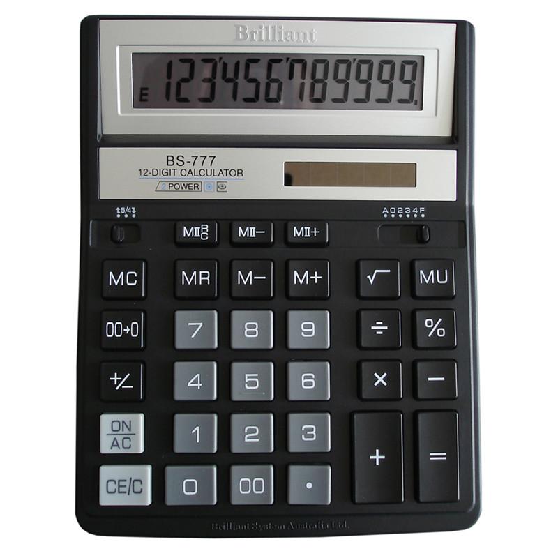 Калькулятор Brilliant BS-777ВК 12р., 2-піт, чорний