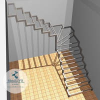 Г-образная лестница каркас