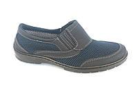 Туфли на резинках мужские синий сетка ANKOR