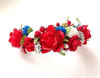 Обруч веночек для волос букет роз