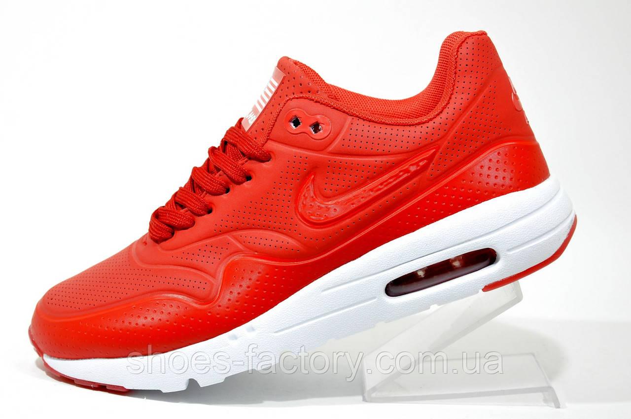 Кроссовки женские в стиле Nike Air Max 1 Ultra Moire, Red