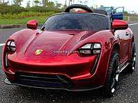 Детский электромобиль Порше M 2727 Porsche Автопокраске, Кожа, Резина, красный, дитячий електромобіль