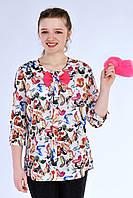 Разноцветная блуза с бантиком