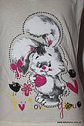 "Классная футболка для подростка слёзка ""Заяц""(от 5 до 8 лет), фото 2"