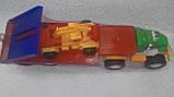 Игрушечный большой автовоз с экскаватором, фото 2