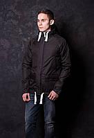 Куртка весенняя, осенняя, демисезонная парка до 0 °С, мужская, черная.
