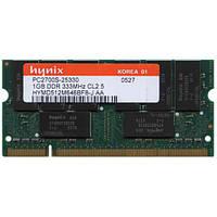 Память DDR 1Gb SO-DIMM PC-2700S 333MHz ОЗУ для ноутбука (нетбука), фото 1