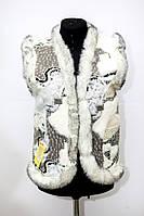 Безрукавка женская из овечьей шерсти