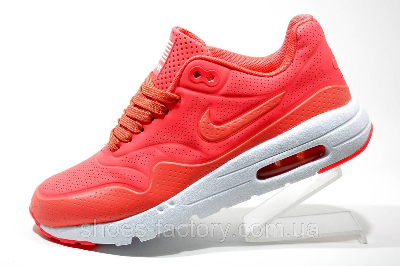 Кроссовки женские в стиле Nike Air Max 1 Ultra Moire, Coral