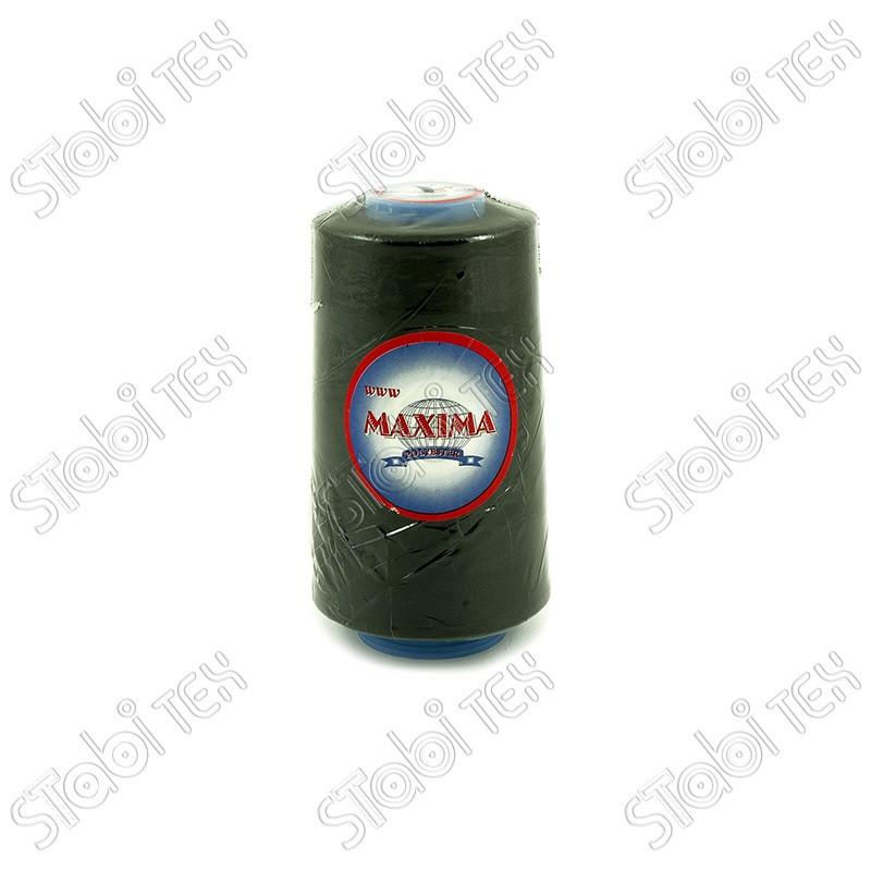Нитка полиэстер MAXIMA  40/2 чёрная и белая