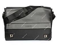 Чоловіча сумка під документи імітація тканини(6615-2ч)