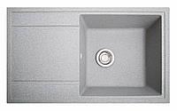 Кухонная мойка из искусственного камня (гранитная) ТОТАЛ серый