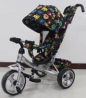 """Велосипед трехколесный TILLY Trike, """"Монстрики"""", серый"""