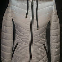 Куртка женская молодежка короткая белая