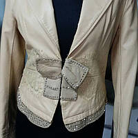 Нарядный пиджак женский Кожзам