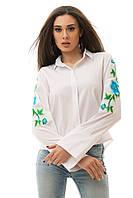 Женская белая рубашка с вышивкой. Разные модели.