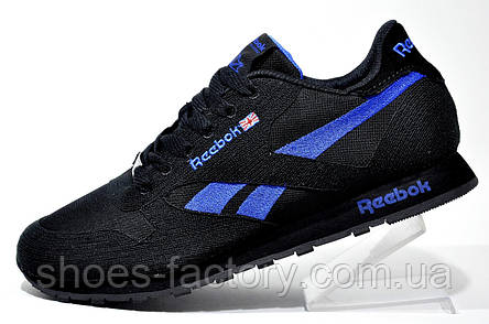 Кроссовки мужские Reebok Classic Runner Jacquard, Dark Blue\Black, фото 2