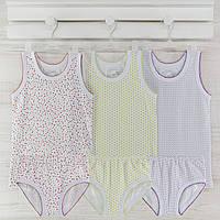 Комлект детские трусы майки  для девочки  _2_3лет. Хлопок-кулир. В наличии 86-92 и 98-104,рост.